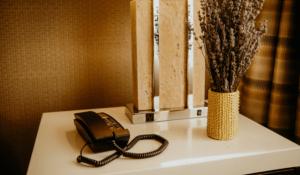 Hotel Telephone sitting on desk