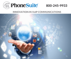 graphic showing phonesuite and their phone number above a hand with a glove and other images