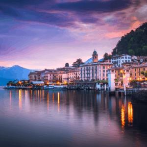 Lake Como Italy in the evening