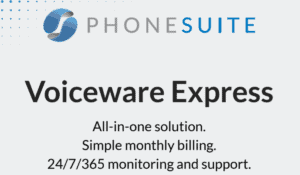graphic of phonesuite's Voiceware express press release